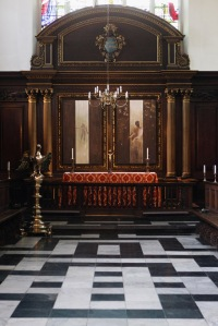 The Installation Of Two New Altarpiece Paintings At Christ's College Cambridge