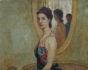 woman in mirror