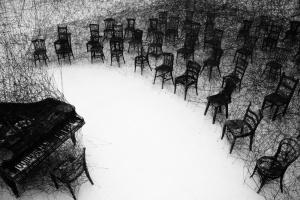 """In Silence"" by Chiharu Shiota"
